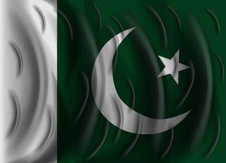 flag of pakistan: pakistan wind flag Illustration