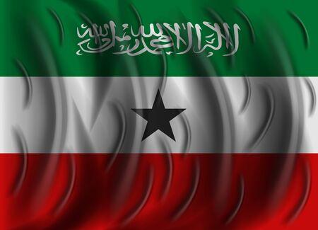 somaliland: somaliland wind flag Illustration