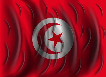 tunisia: tunisia wind flag Illustration