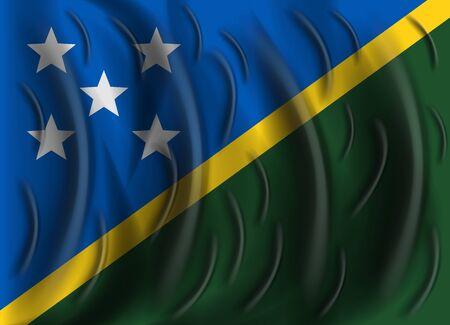 solomon: solomon islands wind flag Illustration