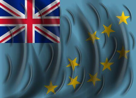 tuvalu: tuvalu wind flag Illustration