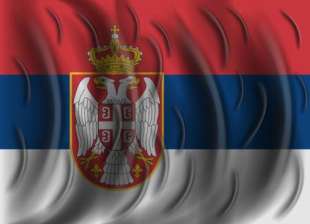 serbia: serbia wind flag
