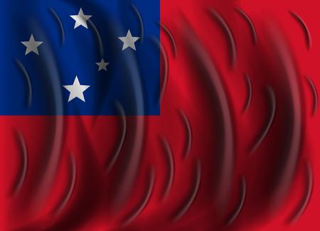samoa: samoa wind flag