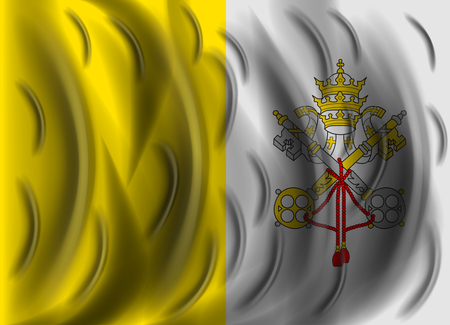 vatican city: vatican city wind flag