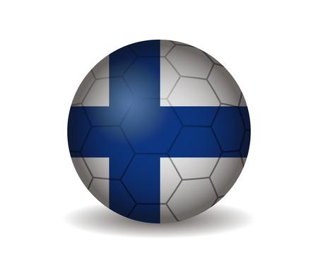 league of nations: filand soccer ball Illustration