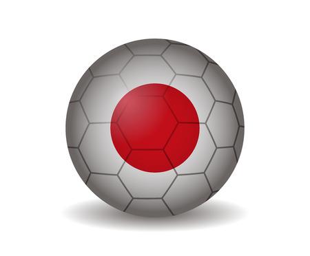 league of nations: japan soccer ball Illustration