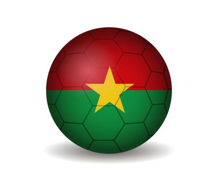 burkina faso: burkina faso soccer ball Illustration