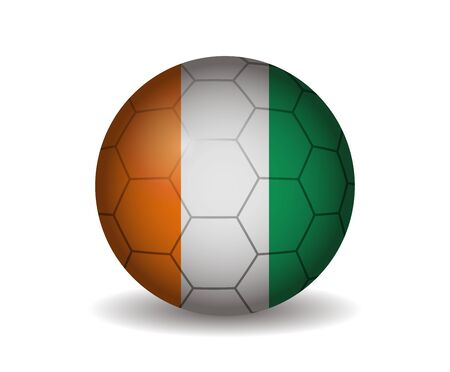 ivory: ivory coast soccer ball Illustration