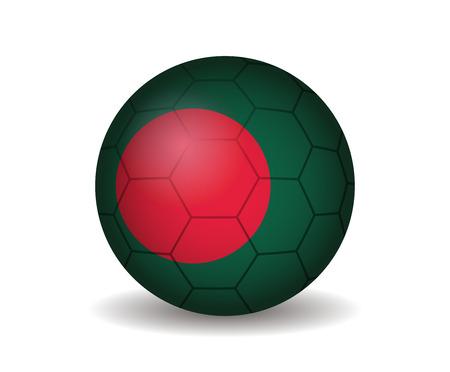 league of nations: bangladesh soccer ball Illustration