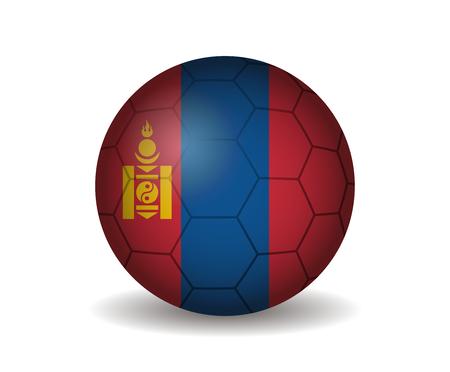 league of nations: mongolia soccer ball Illustration