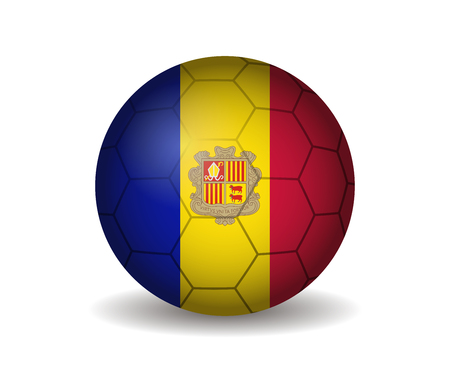 andorra: andorra soccer ball Illustration