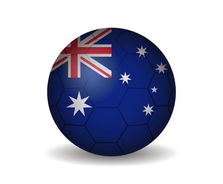 league of nations: australia soccer ball Illustration