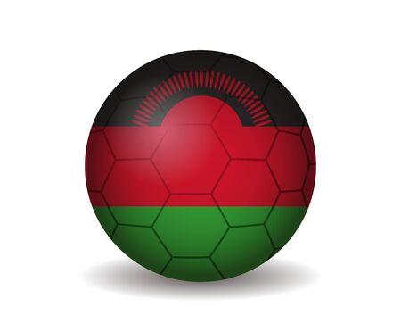 kickball: malawi soccer ball Illustration