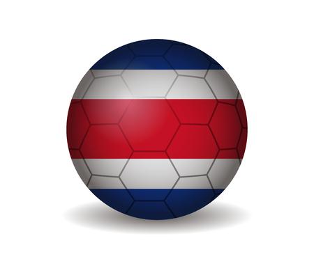 costa rica: costa rica soccer ball Illustration