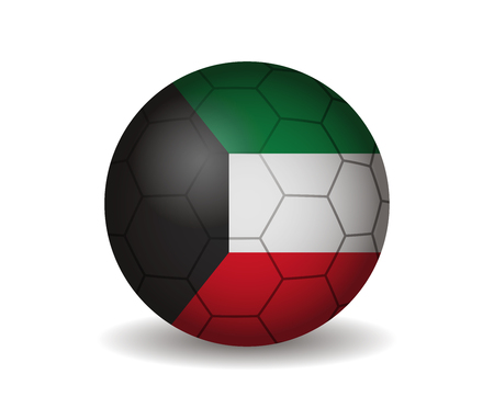 league of nations: kuwait soccer ball Illustration