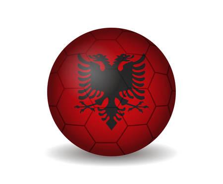albania: albania soccer ball