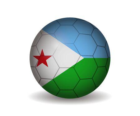 kickball: djibouti soccer ball Illustration