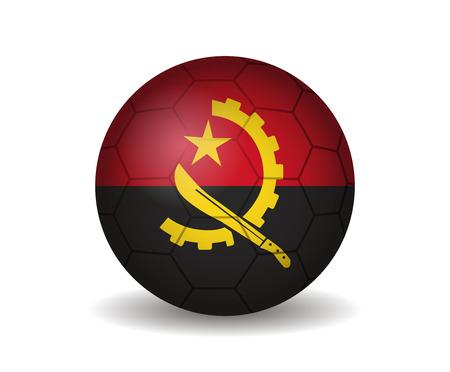 kickball: angola soccer ball Illustration