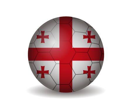 league of nations: georgia soccer ball