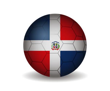 dominican republic: dominican republic soccer ball