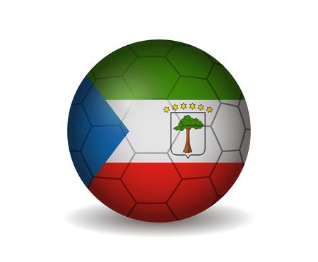 equatorial guinea: equatorial guinea soccer ball