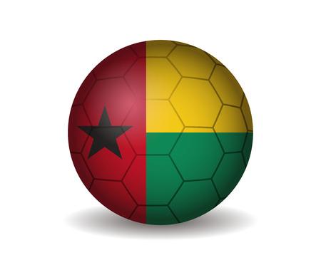 guinea: guinea bissau soccer ball