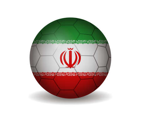 league of nations: iran soccer ball Illustration