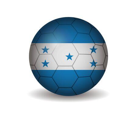 honduras: honduras soccer ball Illustration