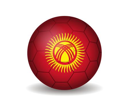 kyrgyzstan: balón de fútbol kirguistan