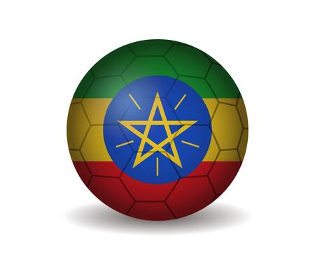 league of nations: ethiopia soccer ball Illustration