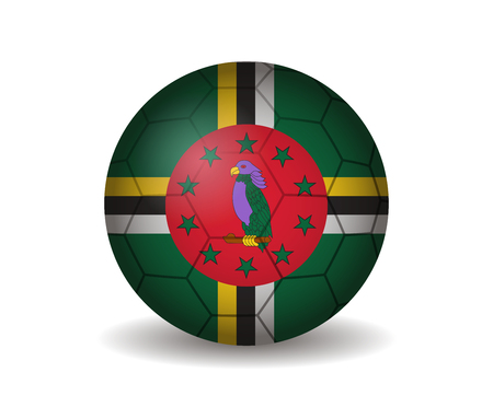 league of nations: dominica soccer ball