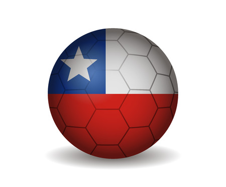 league of nations: chile soccer ball Illustration