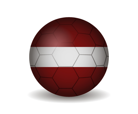 latvia: latvia soccer ball