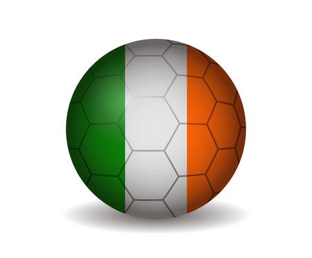 league of nations: ireland soccer ball Illustration