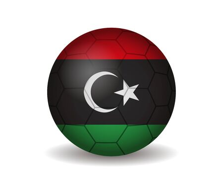 league of nations: libya soccer ball Illustration