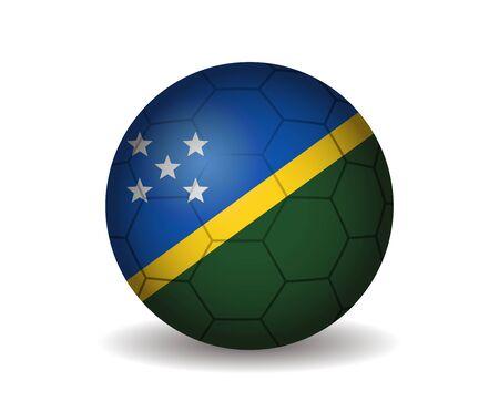 league of nations: solomon islands soccer ball Illustration