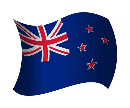 new zealand flag: new zealand flag waving in the wind