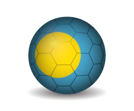 league of nations: palau soccer ball Illustration