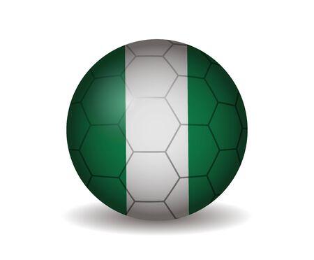 country nigeria: nigeria soccer ball Illustration