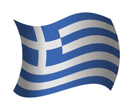 greece flag: greece flag waving in the wind