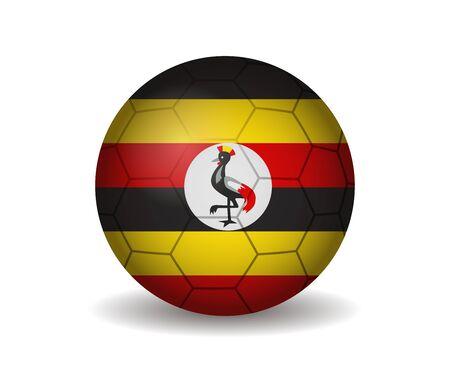 league of nations: uganda soccer ball Illustration