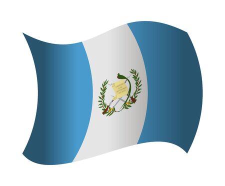 bandera de guatemala: Guatemala bandera ondeando en el viento