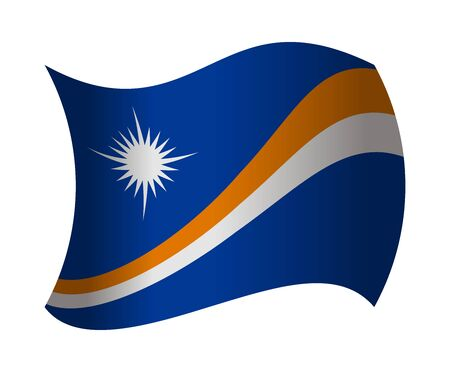 marshall: marshall islands flag waving in the wind