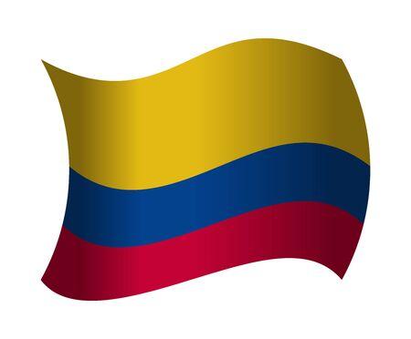 drapeau colombie ondulant dans le vent