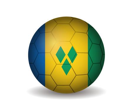 saint: saint vincent soccer ball