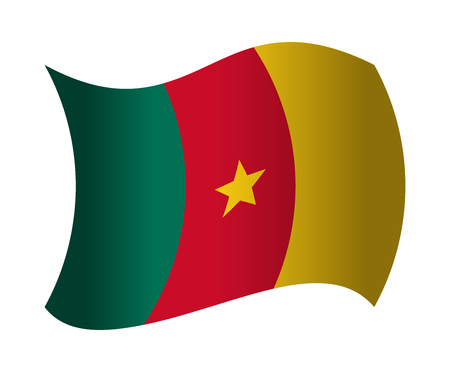 cameroon: cameroon flag waving in the wind Illustration