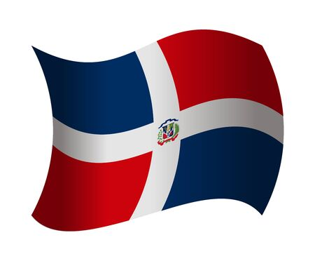 dominican republic: dominican republic flag waving in the wind