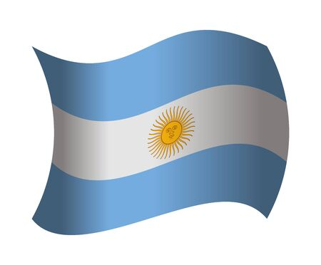 argentina flag: argentina flag waving in the wind