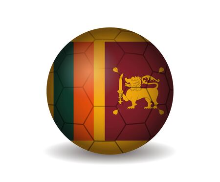 league of nations: sri lanka soccer ball Illustration