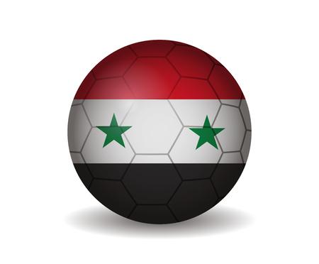 syria: syria soccer ball Illustration